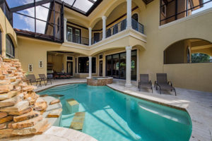 Pool of 785 Broad St Naples Fl currently for sale.